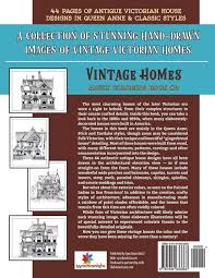 amazon com vintage homes coloring book antique victorian