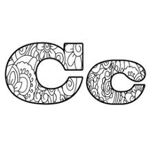 doodles font from ornamental flowers letter c vector image
