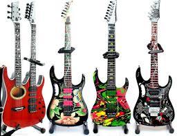steve vai set of 4 miniature guitar collectible acoustic