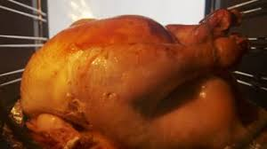 4k thanksgiving turkey cooking in oven preparing tipical