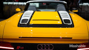 Audi R8 Yellow - audi u0027s r8 spyder is a sensible luxurious convertible