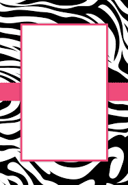 Printable Party Invitation Cards Free Printable Zebra Stripes Invitation Birthday Party Pure