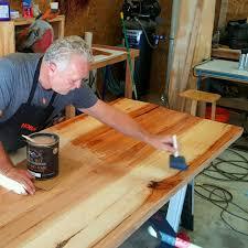 making a live edge table live edge craftsman horizon home furniture