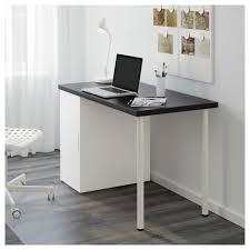 Linnmon Corner Desk by Alex Linnmon Table Black Brown White 120x60 Cm Ikea