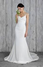 simple wedding dresses simple floor length backless mermaid wedding dress