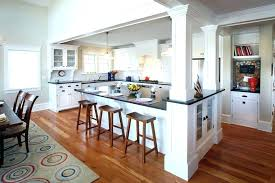 kitchen islands with columns kitchen island with pillars beautiful modern kitchen with wood floor