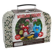 woodland animals sewing craft kit for kids u2013 craftster u0027s sewing kits