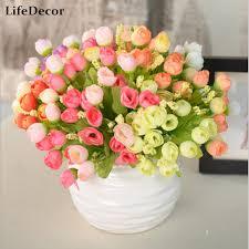 Home Decor Flower Arrangements 1pcs Artificial Flowers For Wedding Decorations Silk