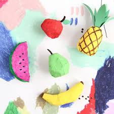 diy papier mâché fruit ornaments on design sponge