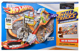 motocross madness 2 tracks wheels wall tracks mid air madness booster trackset amazon co