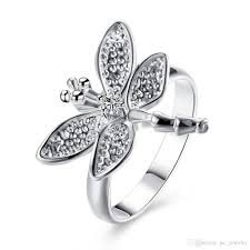 fashion wholesale rings images 2018 wholesale cheap silver rings for women fashion dragonfly ring jpg