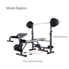 tomshoo adjustable bench weight lifting home gym equipment fitness