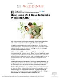 wedding gift one year rule the huffington post how do i to send a wedding gift