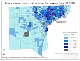 Central Michigan University Map File Percent Of Vacant Housing Units By Census Tract In Wayne