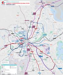 Portland Public Transportation Map by Scenario 1 Comprehensive Regional System