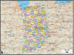 Maps Of Indiana Geoatlas Us States Indiana Map City Illustrator Fully
