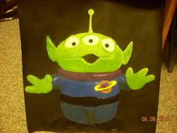 toy story alien painting poke7vosejpka7artist deviantart