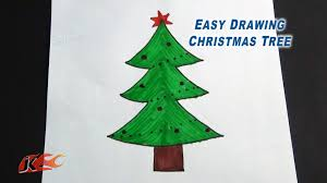 to draw a christmas tree easy project for kids jk