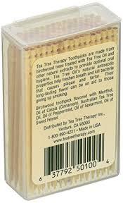 tea tree therapy toothpicks tea tree and mint 100