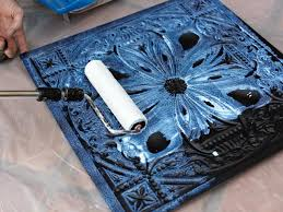 Ceiling Tile Adhesive by How To Install Tin Ceiling Tile How Tos Diy