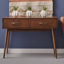 modern console table with drawers george oliver ripton mid century modern console table reviews