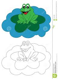 coloring page book for kids frog royalty free stock images