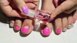 how to reverse french nail simple gel pedicure youtube