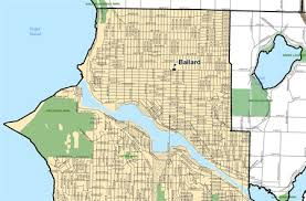 seattle map green lake new school maps show minor ballard changes my ballard