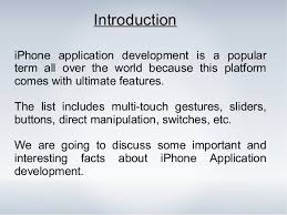 iphone application development some interesting facts to