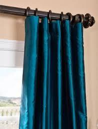 Teal Taffeta Curtains Tahitian Teal Silk Taffeta Curtain Custom Cerasoli Home