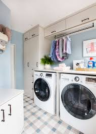 Laundry Room Storage Between Washer And Dryer by Our Laundry Room Makeover With Persil Emily Henderson