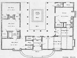 Spanish Home Plans by Shaped One Story House U Shaped House Plan With Courtyard Spanish