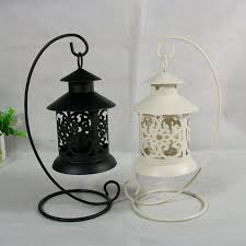morocco vintage classic hanging lantern hollow iron candlestick