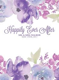 wedding backdrop font custom wedding backdrop lavender floral background any text