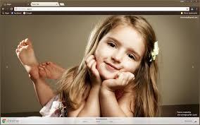 Very Cute Small Girl Chrome Theme  ChromePosta