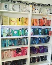Organizing Bookshelves by Best 25 Rainbow Library Ideas On Pinterest Books Organizing