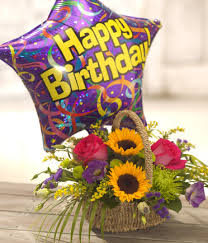 birthday basket birthday basket of flowers floral shop an online flower gifts