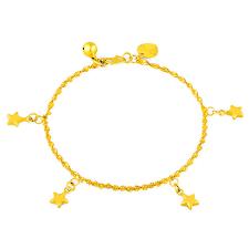 bracelet designs images High quality gold color plated bracelet designs heart star pendant jpg