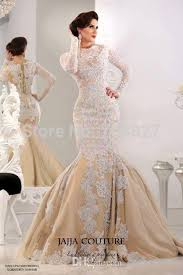 turmec long sleeve lace mermaid wedding dress