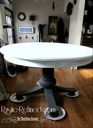 rustic painting kitchen table chalk painting a kitchen table