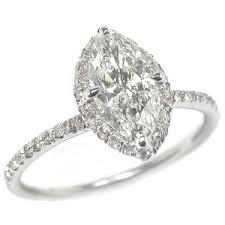 marquise cut diamond ring rings 1ct marquise cut diamond 18k white gold engagement r