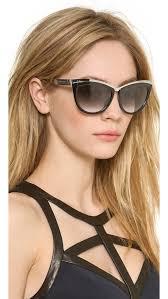 alexander mcqueen cat eye sunglasses gold black brown gradient