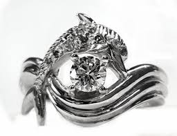 dolphin engagement ring the dolphin bridal jewelry store ssjewels