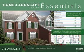 Free Home Design Software With Cost Estimate by Amazon Com Punch Home U0026 Landscape Design Essentials V19 For