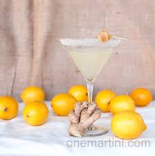 martini drinks ginger lemon drop martini with ginger infused vodka one martini