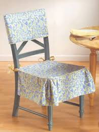 No Sew Chair Back Covers Room And Craft - Covers for dining room chairs