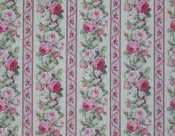 Shabby Chic Upholstery Fabric Broyhill Green Pink Vintage Inspired Rose Floral Jacquard Culp