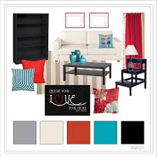 awesome design teal and red living room all dining room