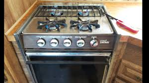 how to use you rv stove top and oven youtube