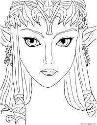 legend of zelda twilight princess coloring pages printable